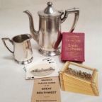 A collection of antiques from Fred Harvey's hotels