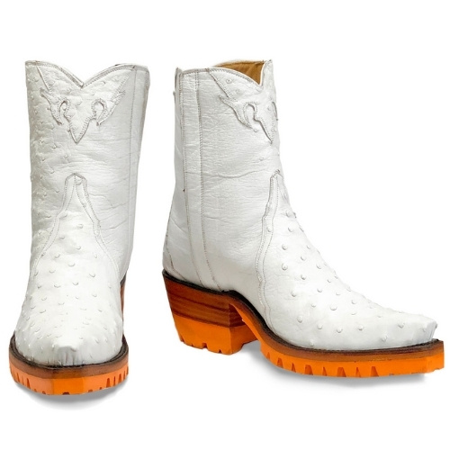 """Wendy """"Ostrich Ankle Zipper"""" boots"""