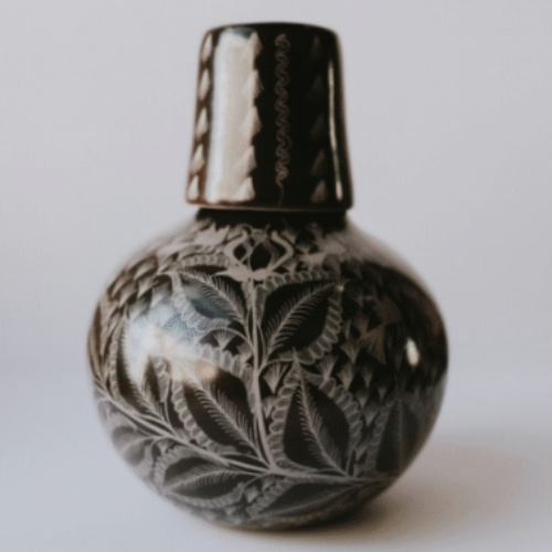 A vase sold by Heritage by Hand in Santa Fe, New Mexico
